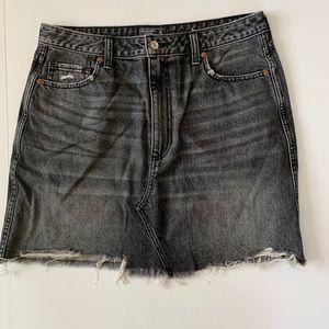Abercrombie distressed jean skirt black 31 12